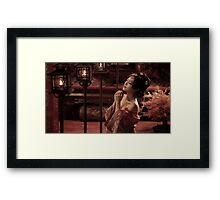 praying Girl Framed Print