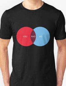 You  Me Rad Venn Diagram Love Unisex T-Shirt
