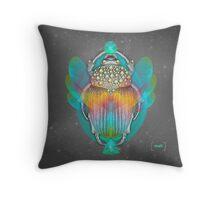 The Darkest Night Will End and the Sun Will Rise (Scarab) Throw Pillow