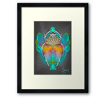 The Darkest Night Will End and the Sun Will Rise (Scarab) Framed Print