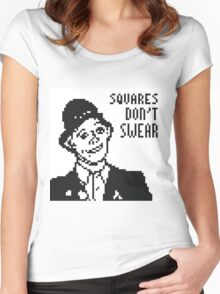 Rik Mayall - Squares Don't Swear Women's Fitted Scoop T-Shirt