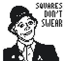 Rik Mayall - Squares Don't Swear Photographic Print