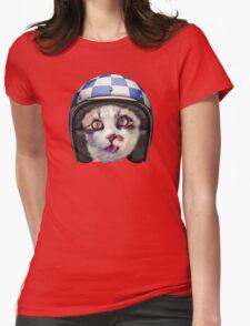 Biker Cat Womens Fitted T-Shirt