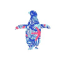 Lilly Pulitzer  penguin Photographic Print