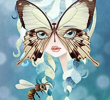 Niella Butterfly Girl by sandygrafik