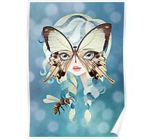 Niella Butterfly Girl Poster