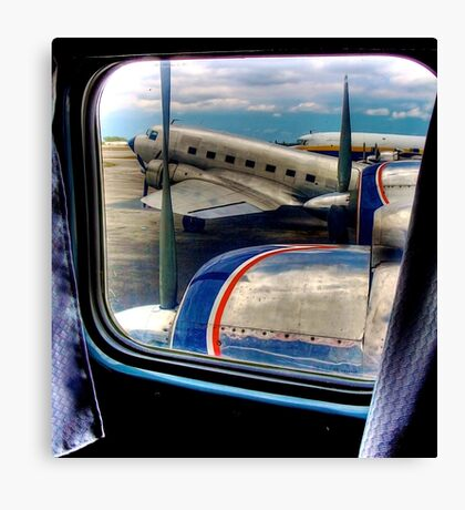 Scene from the Golden Age of Flight  in Color Canvas Print