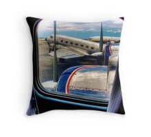 Scene from the Golden Age of Flight  in Color Throw Pillow