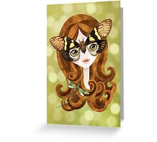 Gaeana Cicada Girl Greeting Card