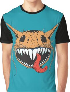 Crazy Cat-Astrophic Cartoon Cat Graphic T-Shirt