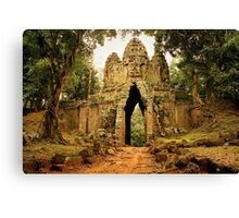 Gate to Angkor Thom in Cambodia Canvas Print