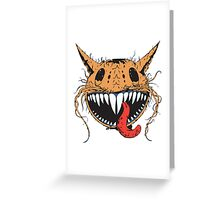 Crazy Cat-Astrophic Cartoon Cat Greeting Card