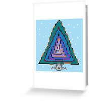Computer space tree tunnel Greeting Card