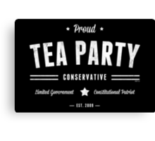 Tea Party Conservative Canvas Print