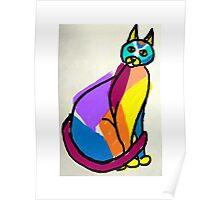 Colorful Cat Hero Poster