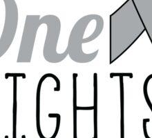 No One Fights Alone - Brain Cancer Awareness Sticker