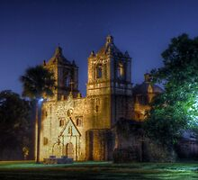 Nighttime at San Jose Mission by Terence Russell