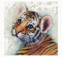 Tiger Cub Watercolor Painting T-Shirt