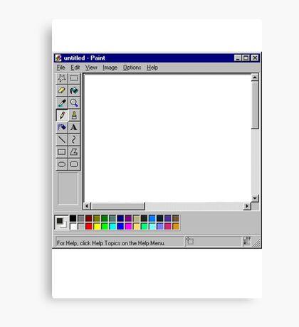 Microsoft Paint Blank Screen Canvas Print
