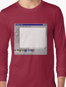 Microsoft Paint Blank Screen Long Sleeve T-Shirt