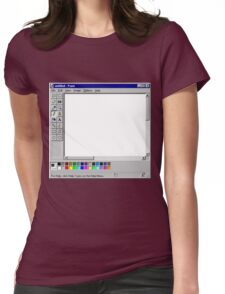 Microsoft Paint Blank Screen Womens Fitted T-Shirt