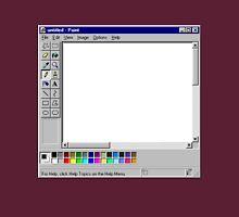 Microsoft Paint Blank Screen Unisex T-Shirt