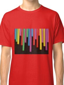 Red Yellow blue and Green strays Classic T-Shirt