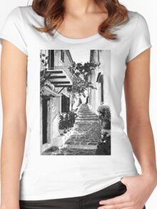 Mediterranean tranquillity Women's Fitted Scoop T-Shirt