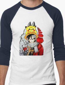 Childhood Anime Men's Baseball ¾ T-Shirt