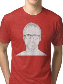 Hey Girl - Black and White Tri-blend T-Shirt