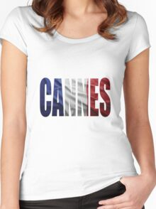 Cannes. Women's Fitted Scoop T-Shirt