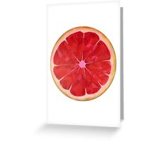 Ruby Red Grapefruit Greeting Card