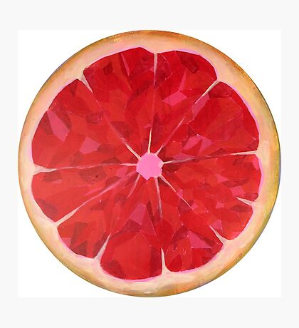 Ruby Red Grapefruit Photographic Print