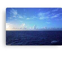 Cloud Line Over the Caribbean  Canvas Print