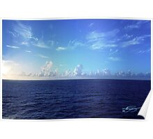 Cloud Line Over the Caribbean  Poster