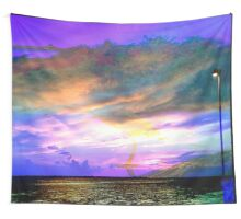 Multi Color Sunset at Anclote Pier Wall Tapestry
