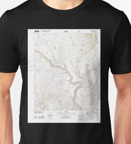 USGS TOPO Map Arizona AZ Hell Point 20120521 TM Unisex T-Shirt