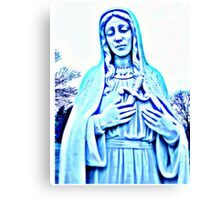 Blue Madonna With Sword Canvas Print