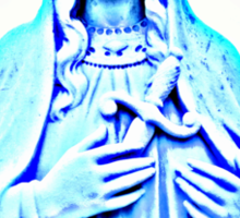 Blue Madonna With Sword Sticker