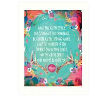 Girl's Walk Tall As The Trees Proverbs Quote Art Print
