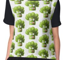 Funny Broccoli Pattern Chiffon Top