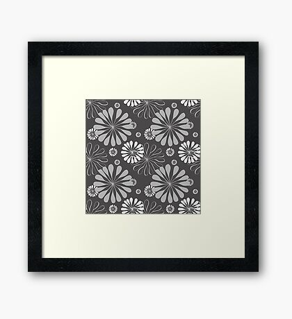 Floral wallpaper Framed Print