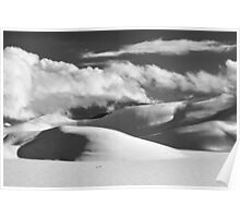Piana of Castelluccio in winter in black and white Poster