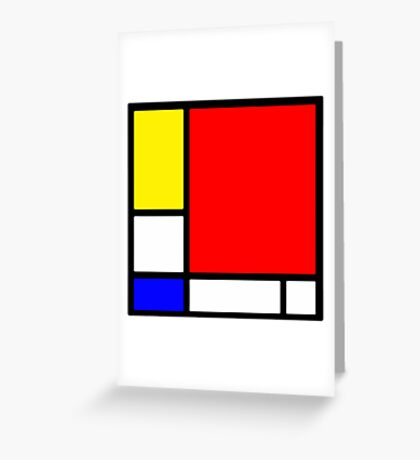 """Hommage to Mondriaan"" Greeting Card"