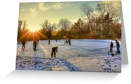 Ice Skating at the Park by njordphoto