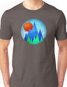 Mountain Sunrise (vintage look) Unisex T-Shirt