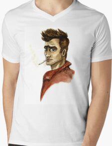 James Dean Inspired Art Mens V-Neck T-Shirt