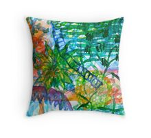Jungle View With Rope Ladder  Throw Pillow