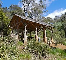 Picnic shelter, Cataract Gorge, Launceston, Tas. Australia by Margaret  Hyde