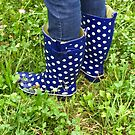 Blue Rain Boots by Christine Wilson